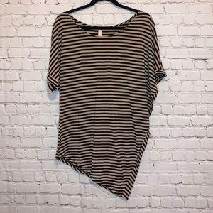 Lani California Striped Asymmetric Blouse